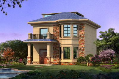 自建房10万以下两层别墅设计图,别墅外观小而美