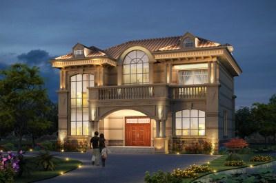2020二层农村新款别墅设计图,外观简约而不简单