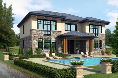 农村二层自建房屋设计图,17×13米,让人羡慕不已。
