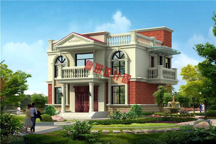 二层平屋顶别墅设计外观图