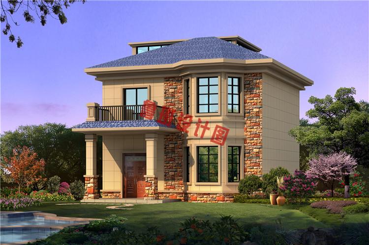 田园风二层乡村自建房屋设计效果图