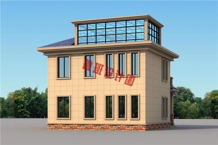 田园风二层乡村自建房屋设计外观图