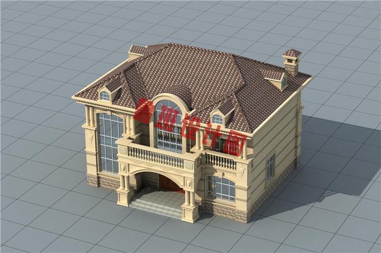 二层欧式别墅设计鸟瞰图