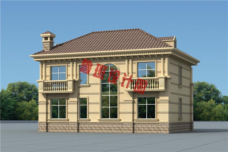 二层欧式别墅设计背面图