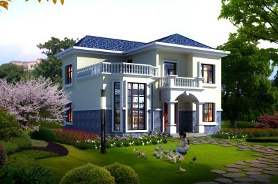 农村2019新式二层楼房设计图,复式二层小别墅你值得拥有!