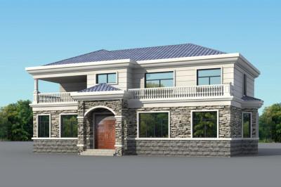170平二层别墅房屋设计图推荐,16.3×11米