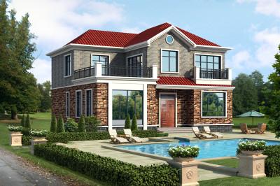 最漂亮的农村二层小楼设计图,让您实现别墅梦想