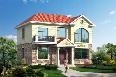 2019二层农村新款别墅设计图,20万建太便宜了吧。