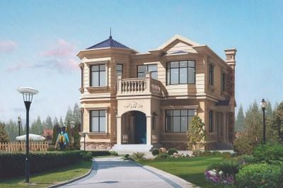 两层欧式别墅设计图,120平农村户型,精致美观又实用