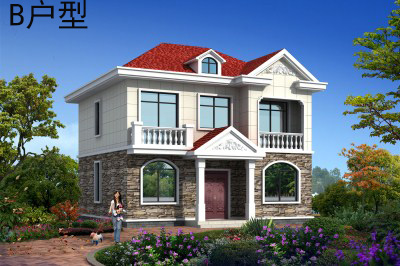 农村18万元二层小楼图,20万内别墅设计图推荐