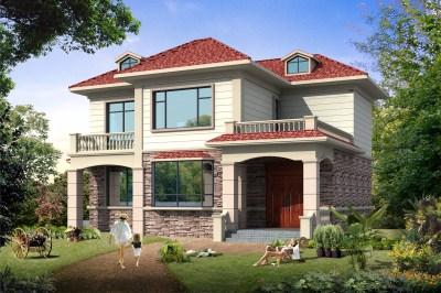 150平米新颖二层经济实用楼房设计图,20万就能起