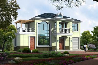 时尚大气的农村二层自建住宅设计图,16×11.6米外观够靓!