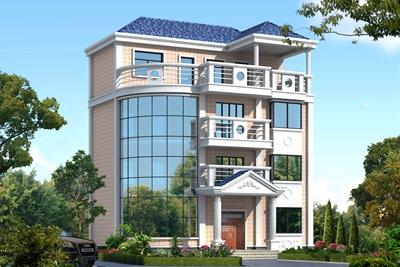 小户型三层半农村自建房设计图片,高端大气上档次,绝对是豪宅
