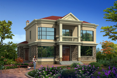新款二层别墅房屋设计图,15×12米,室内布局合理流畅。