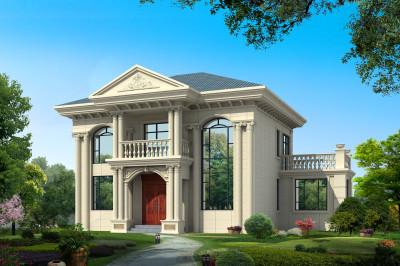 农村2019新款二层楼房设计图,外观美造价低!