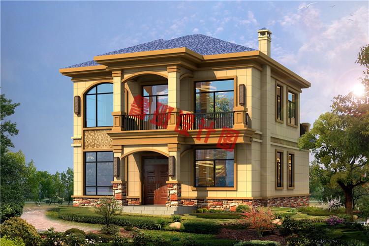 二层美式田园别墅设计效果图
