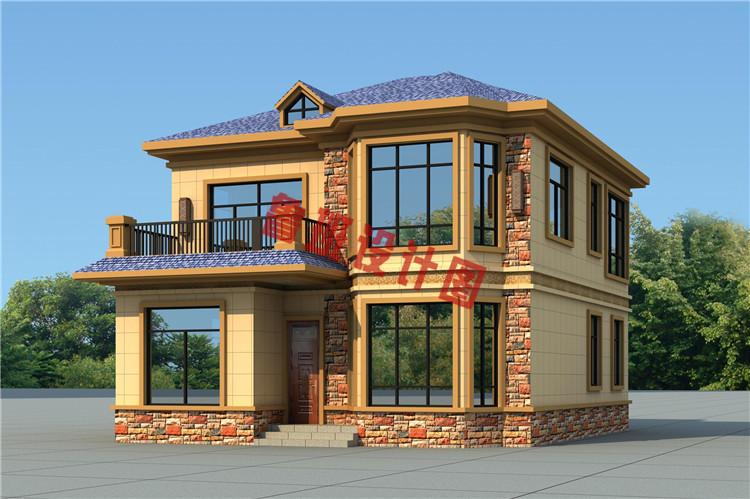 二层美式田园别墅设计背面图