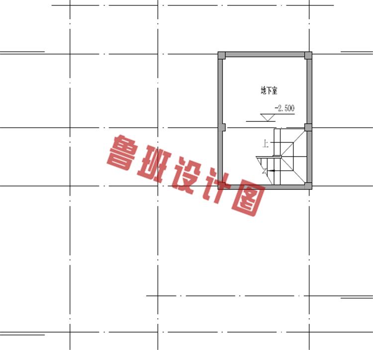 二层美式田园别墅设计地下室图