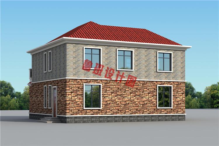 地中海二层别墅自建房屋设计外观图