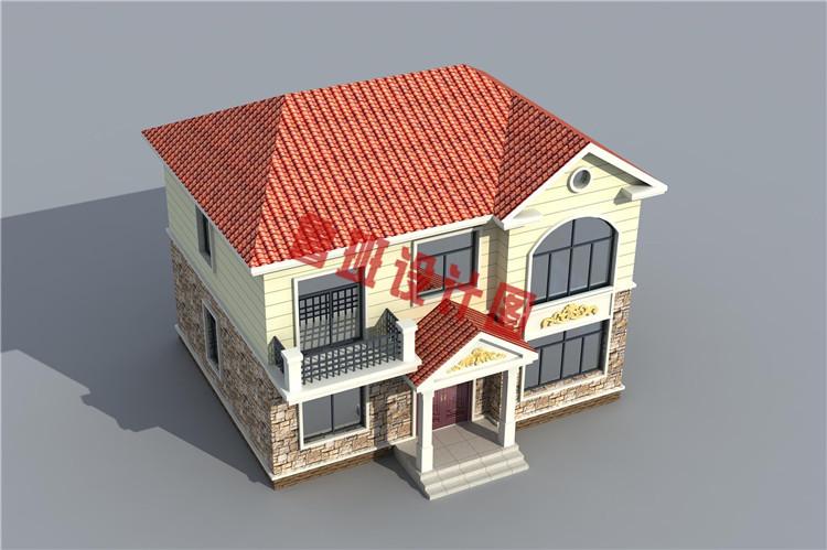 二层别墅设计鸟瞰图