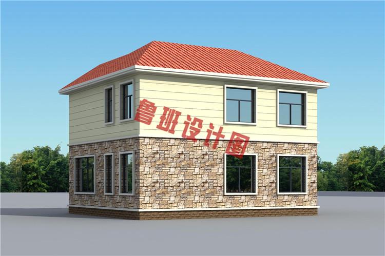 二层别墅设计背面图