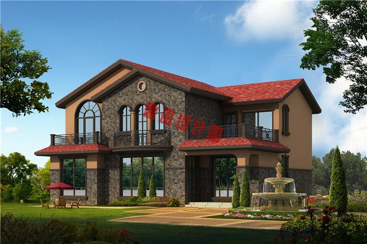 西班牙风二层别墅设计效果图