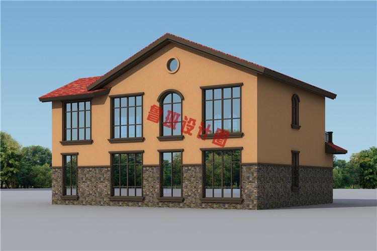 西班牙风二层别墅设计外观图