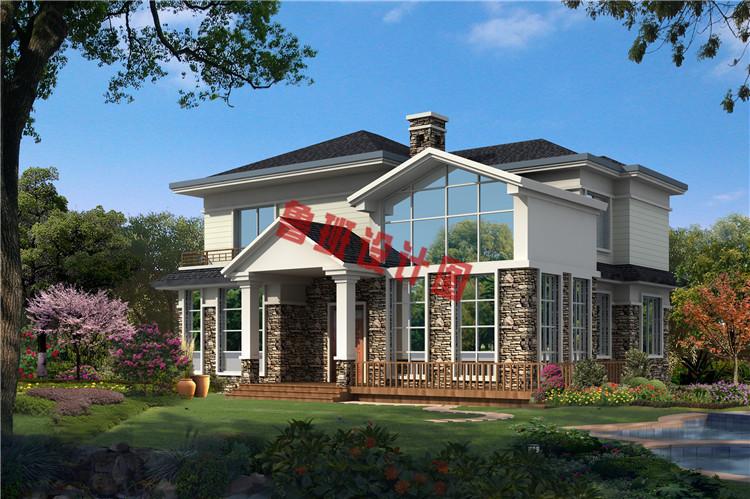 美式田园风二层别墅设计效果图