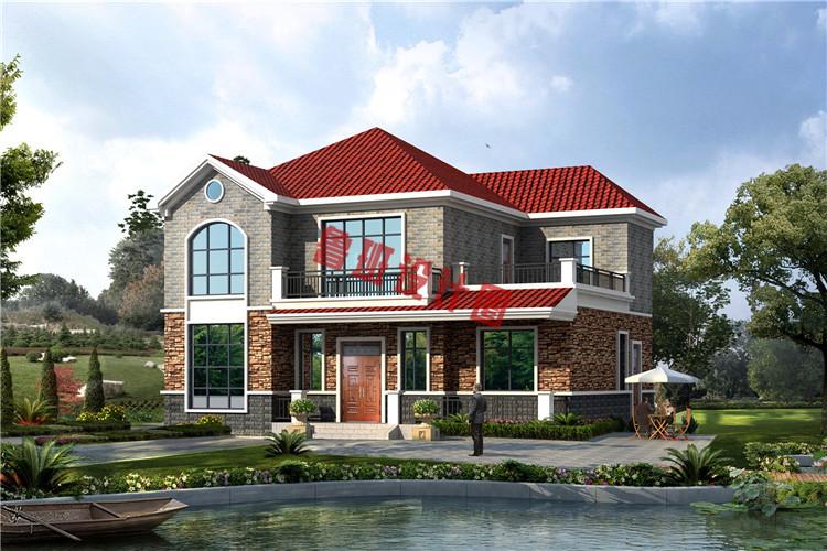 美式二层小别墅设计效果图