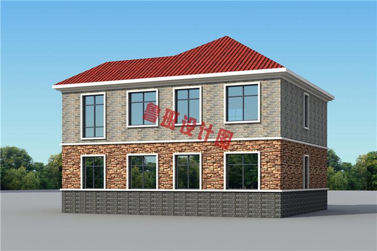 美式二层小别墅设计外观图