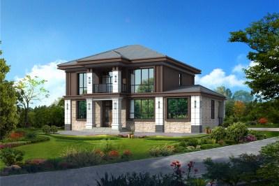 中式两层农村自建房别墅设计图,15.2×11米,越看越有韵味。