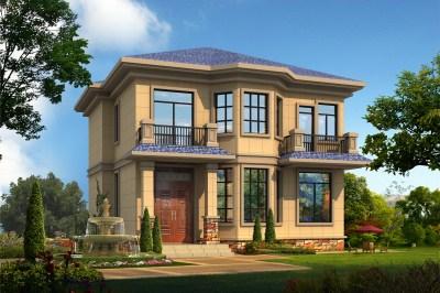 二层楼房图片造价12万-18万附设计图,户型紧凑合理