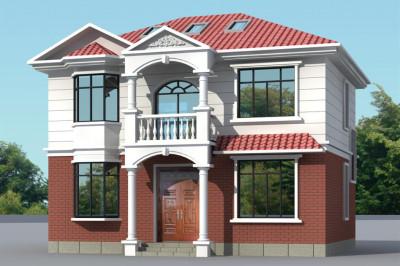 简洁农村二层楼房图片造价12万,精致小别墅设计。