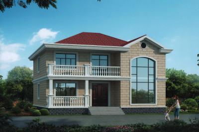 简单复式二层别墅设计图,12×11.7米,外观精致,