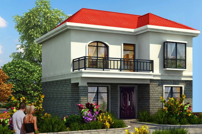 8万元二层农村房子图片,小户型别墅设计图展示