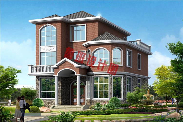 美观大气农村50万三层别墅款式图,只花首付钱就能建成小别墅