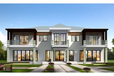 现代风二层小别墅设计图,自建与众不同,让人羡慕。