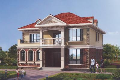 二层带阁楼小别墅推荐设计图,12×11米有格调,