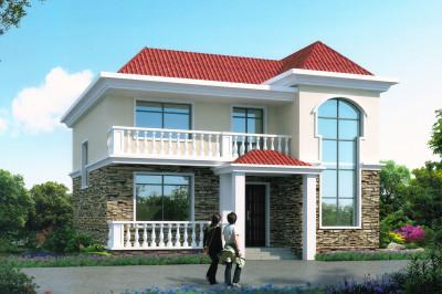 简单大气的二层别墅自建房屋设计图,11×12米,