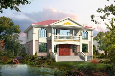 180平乡村二层别墅房屋设计图,很好看的小洋楼