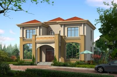 25万两层乡村别墅设计图,四面通透、好看又实用!