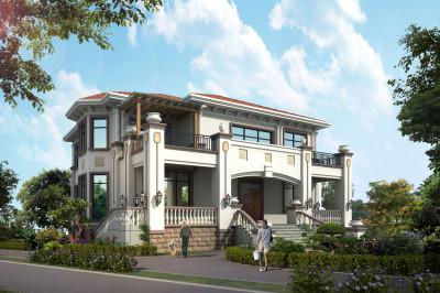 带地下层欧式二层半小别墅设计图,紧凑又不拥挤,不浪费面积