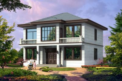 130平新中式二层小别墅房屋设计图推荐,建成后更好看