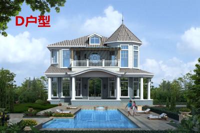 二层现代别墅设计图,简约现代小洋楼图