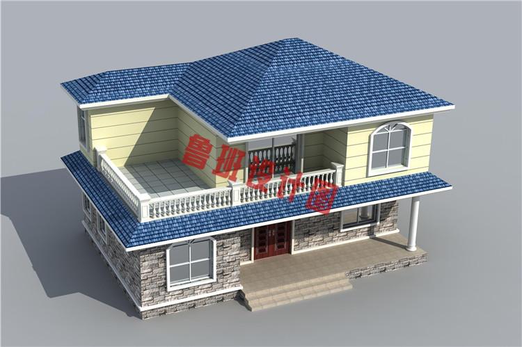二层小楼设计鸟瞰图