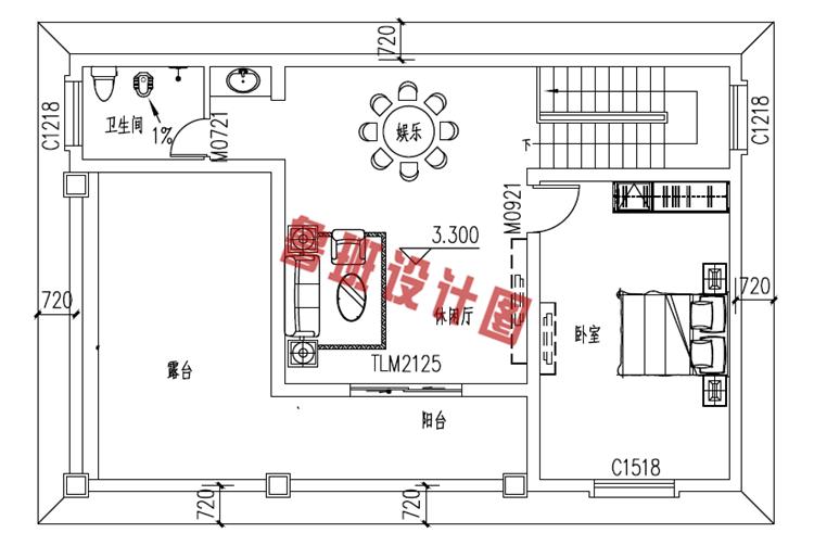 二层小楼设计二层户型图