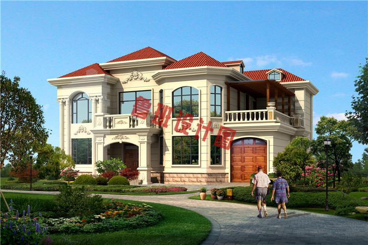 典雅的农村二层小别墅推荐设计效果图