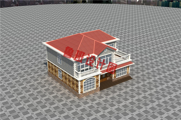 农村自建房房设计鸟瞰图