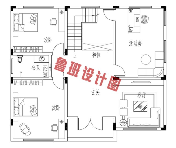 农村自建房房设计一层户型图
