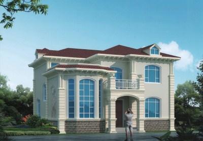 造价30万的二层高档小别墅设计图,12×11米真正的美观又实用